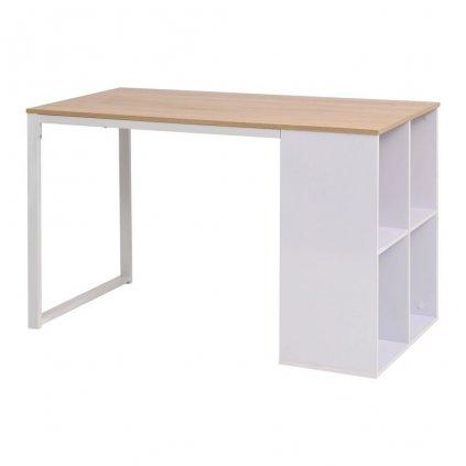 Psací stůl - dub a bílý | 120x60x75 cm