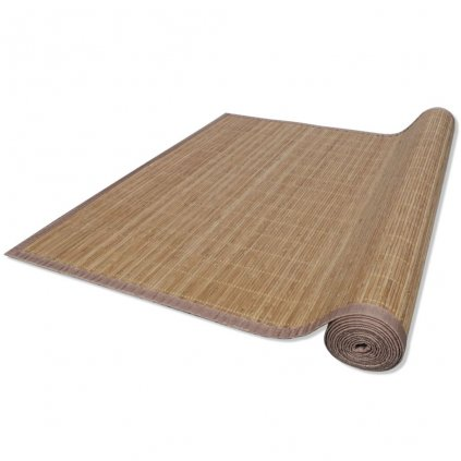 Bambusový koberec - hnědý | 100x160 cm