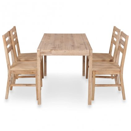 5-dílný jídelní set | masivní akáciové dřevo