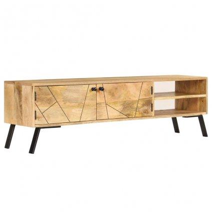 TV stolek z masivního mangovníkového dřeva | 140x30x40 cm