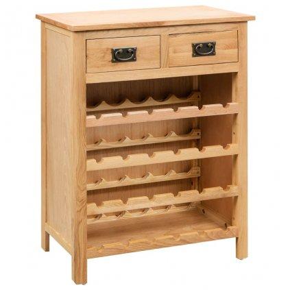 Skříňka na víno - dubové dřevo | 72x32x90 cm