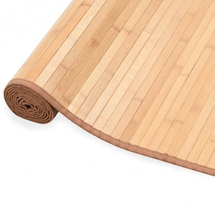 Bambusový koberec - hnědý | 150x200 cm