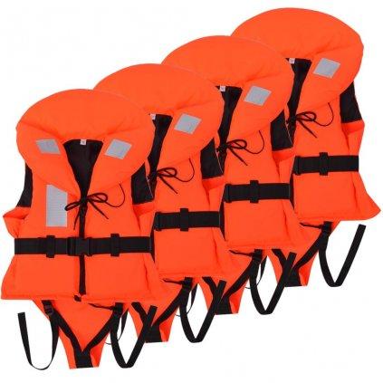 Dětské plovací vesty 4 ks 100 N | 10-20 kg