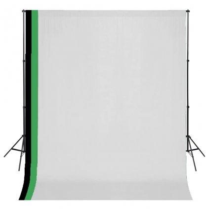 Fotografická sada 3 bavlněná pozadí a nastavitelný rám | 3x3 m