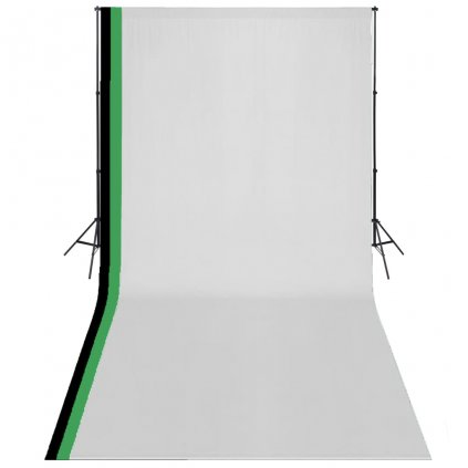 Fotografická sada 3 bavlněná pozadí a nastavitelný rám | 3x6 m