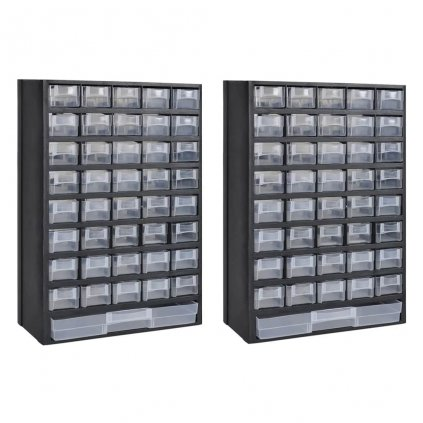 Box na nářadí se 41 zásuvkami - 2 ks | plastový