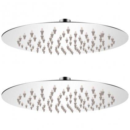 Dešťové sprchové hlavice - 2 ks - nerezová ocel | Ø 20 cm