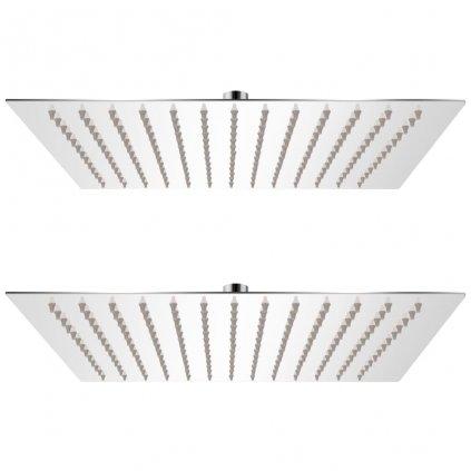 Dešťové sprchové hlavice - 2 ks  - nerezová ocel | 25x25 cm