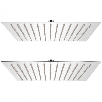 Dešťové sprchové hlavice - 2 ks - nerezová ocel | 30x30 cm