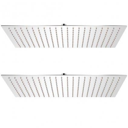 Dešťové sprchové hlavice - 2 ks - nerezová ocel | 30x50 cm