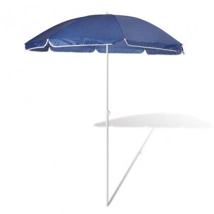 Plážový slunečník Ewell - modrý | 180 cm