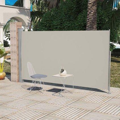 Boční markýza / zástěna na terasu zatahovatelná - 160x300 cm | krémová