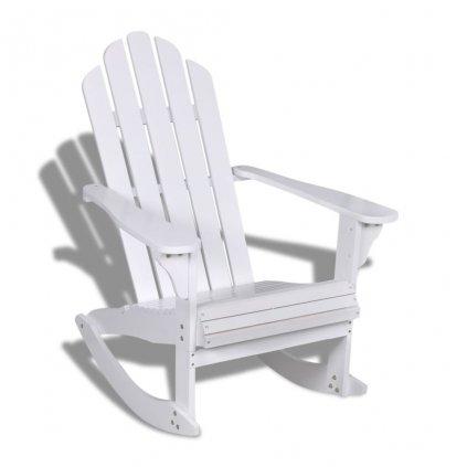 Dřevěné houpací křeslo | bílé