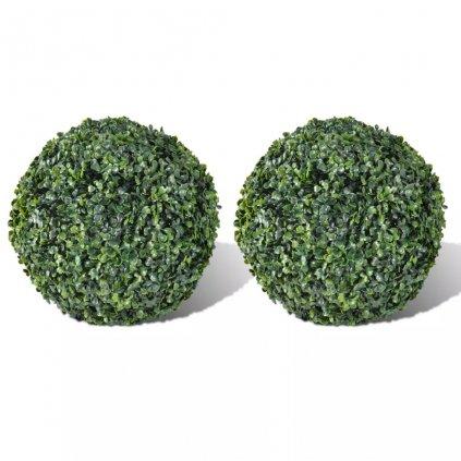 Dekorativní zimostráz umělý - koule 27 cm | 2 ks