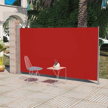 Boční markýza / zástěna na terasu zatahovatelná - 160x300 cm | červená