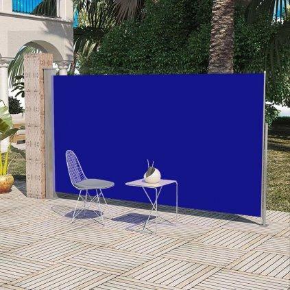 Boční markýza / zástěna na terasu zatahovatelná - 180x300 cm   modrá