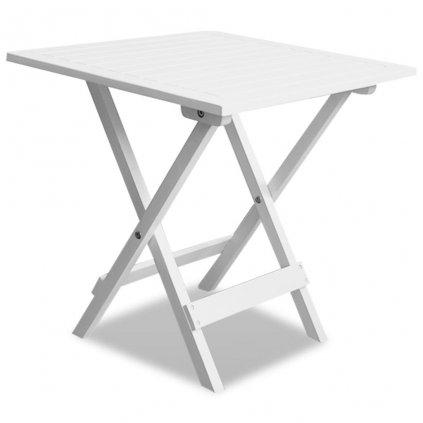 Venkovní konferenční/odkládací stolek z akáciového dřeva | bílý