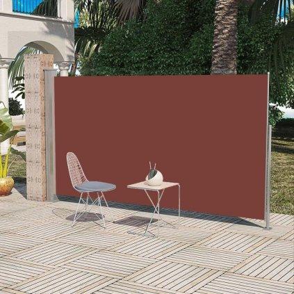 Boční markýza / zástěna na terasu zatahovatelná - 160x300 cm | hnědá