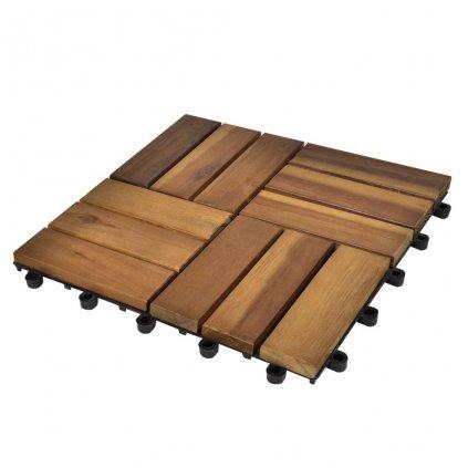 10 ks akáciové terasové dlaždice | 30x30 cm