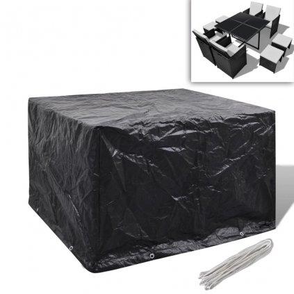 Kryt na set polyratanového nábytku pro 4 osoby - 8 oček | 113x113 cm