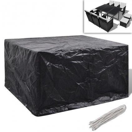 Kryt na set polyratanového nábytku pro 6 osob - 10 oček | 172x113 cm