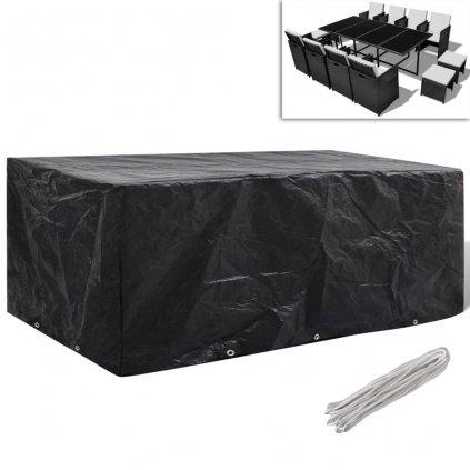 Kryt na set polyratanového nábytku pro 8 osob - 10 oček | 229x113 cm