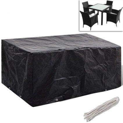 Kryt na set polyratanového nábytku pro 4 osoby - 8 oček | 180x140 cm
