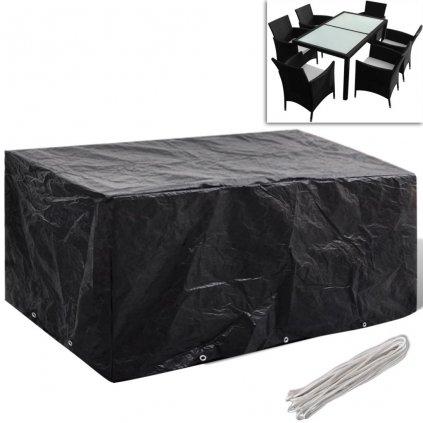 Kryt na set polyratanového nábytku pro 6 osob - 10 oček | 240x140 cm