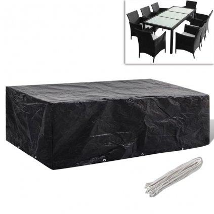 Kryt na set polyratanového nábytku pro 8 osob - 10 oček | 300x140 cm