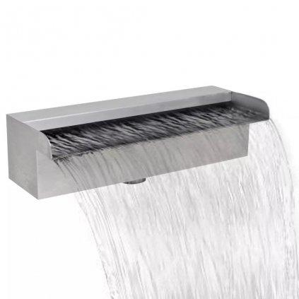 Obdélníková bazénová fontána - vodopád - nerezová ocel | 30 cm