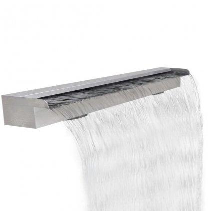 Obdélníková bazénová fontána - vodopád - nerezová ocel | 120 cm