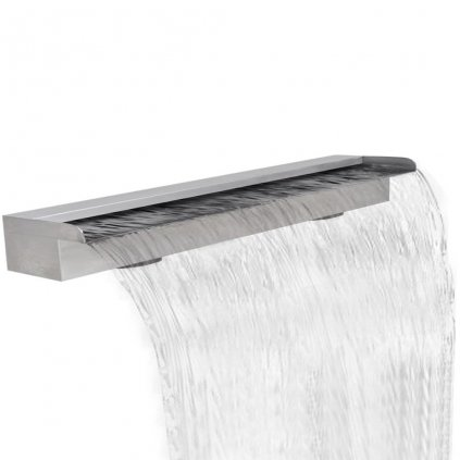 Obdélníková bazénová fontána - vodopád - nerezová ocel | 150 cm