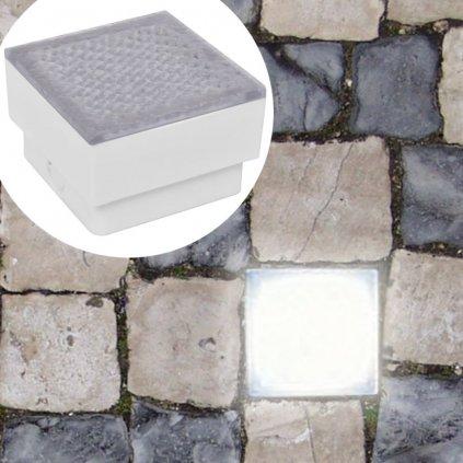 2 venkovní zemní LED svítidla | 100x100x68 mm