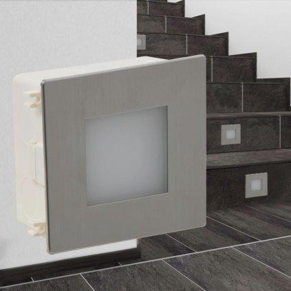 2 vestavná LED svítidla pro osvětlení schodiště | 85x48x85 mm