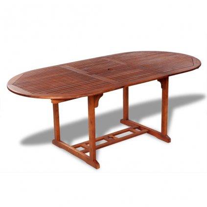 Rozkládací zahradní jídelní stůl z akáciového dřeva | 200x100x74 cm