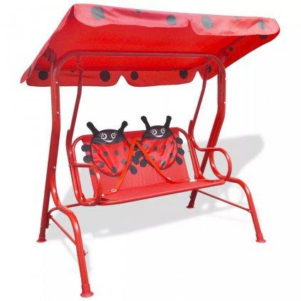 Dětská zahradní houpačka | červená
