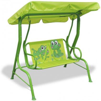 Dětská zahradní houpačka | zelená