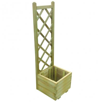 Trelážový truhlík - impregnované FSC dřevo | 40x40x135 cm