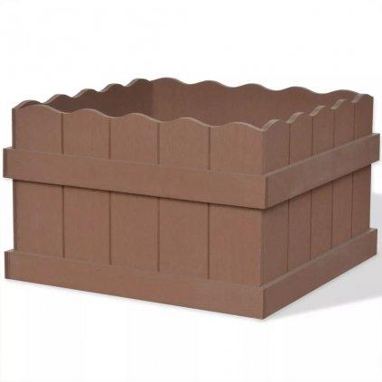 Dřevoplastový (WPC) zahradní truhlík - hnědý | 40x40x25 cm