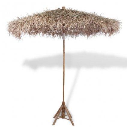 Bambusový slunečník se střechou z banánových listů   210 cm