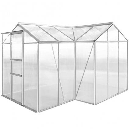 Hliníkový skleník - 1 sekce s dutými panely
