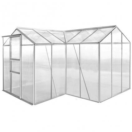 Hliníkový skleník - 2 sekce s dutými panely