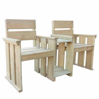 2-místná zahradní lavice Bazzi - impregnované borové dřevo | 150 cm