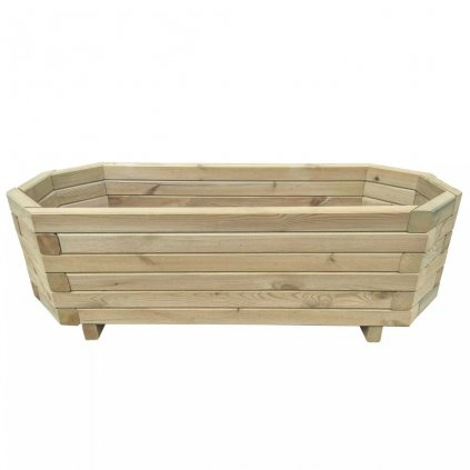 Zahradní truhlík - impregnované borové dřevo | 80x32x31 cm