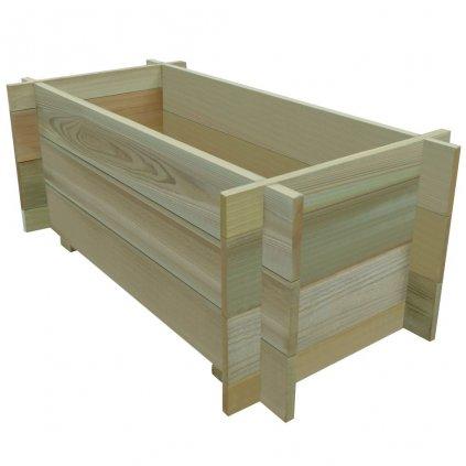 Vyvýšený zeleninový záhon - impregnovaná FSC borovice | 80x40x32 cm