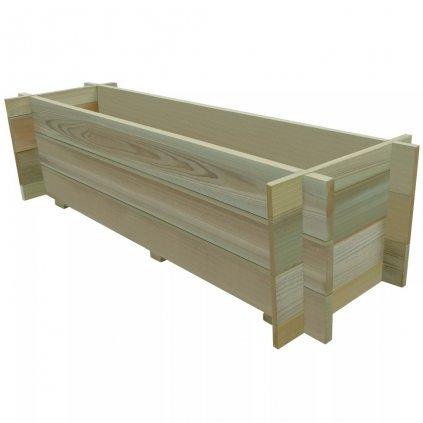 Vyvýšený zeleninový záhon - impregnovaná FSC borovice | 120x40x32 cm