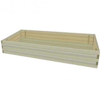 Zahradní truhlík - impregnované borové dřevo | 150x100x28 cm