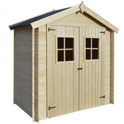 Zahradní domek / kůlna na dříví - dřevěný | 2x1 m