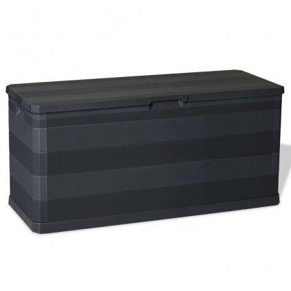 Venkovní úložný box - 117x45x56 cm - 280L | černý