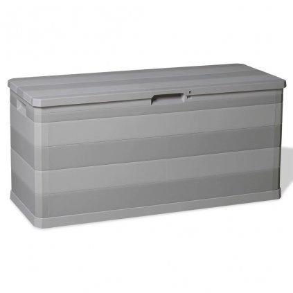 Venkovní úložný box - 117x45x56 cm - 280L | šedý